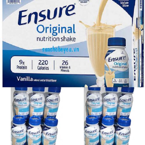 Sữa Uống Liền - Ensure  Nước Original - 2 Lốc 6 chai x 237ml . - 4170880 , 10322282 , 15_10322282 , 390000 , Sua-Uong-Lien-Ensure-Nuoc-Original-2-Loc-6-chai-x-237ml-.-15_10322282 , sendo.vn , Sữa Uống Liền - Ensure  Nước Original - 2 Lốc 6 chai x 237ml .