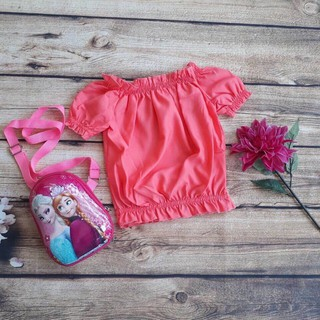 Áo bé gái kiểu bẹt vai 12-26kg. Vải kate Nhật mềm mịn_vải đẹp, đường may sắc sảo - Red Ant Kids.