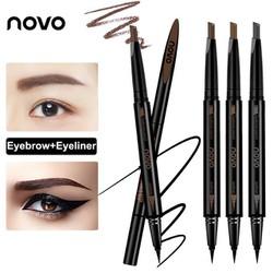 Bút Vẽ Mắt Novo 2 In 1 tặng khuôn kẻ chân mày