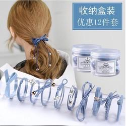 Hộp 12 thun cột tóc Hàn Quốc