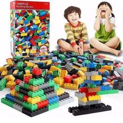 Bộ xếp hình lego, 1000 chi tiết cho bé -...
