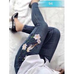 quần jean nữ thuê hoa