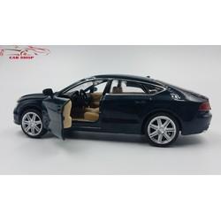 Mô hình xe oto Audi A7 giá rẻ màu xanh đen tỉ lệ 1:32