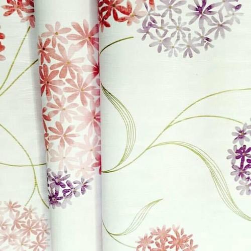 10m Giấy dán tường tú cầu hồng tím khổ rộng 60cm