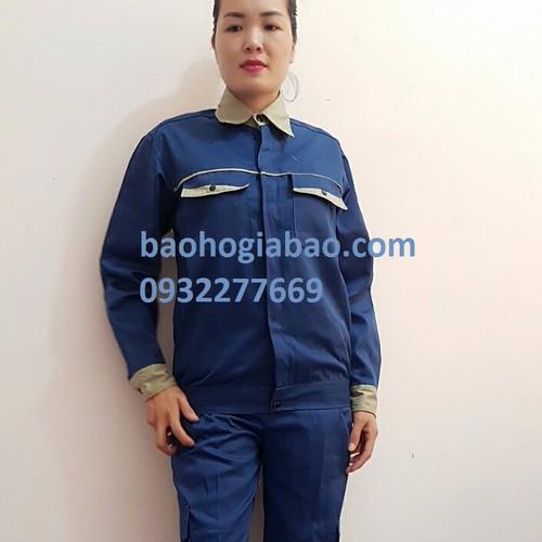 Quần áo bảo hộ lao động xanh - ghi giá rẻ