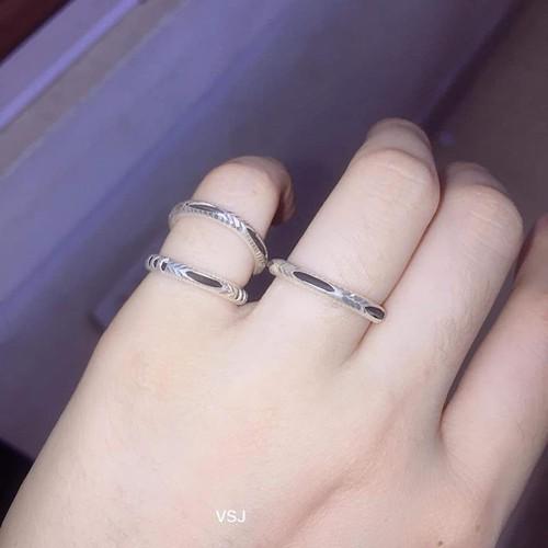 Nhẫn bạc trơn  cho nữ