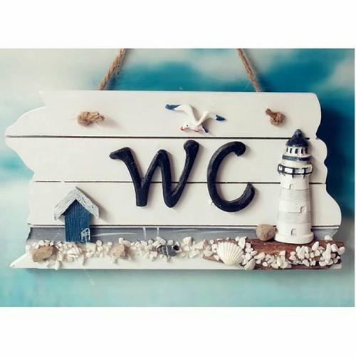 Bảng treo WC hình hải đăng