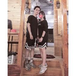 Set quần Short V-line và áo tee
