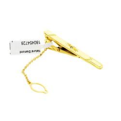 Qua tặng sinh nhật: Kẹp caravat dát vàng 24K, đính kim cương cao cấp