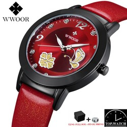 Đồng hồ nữ WWOOR 8822 Women Quartz Watch Butterfly Peta