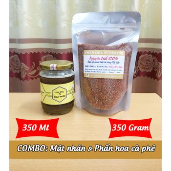 350ml Mật ong HOA NHÃN + 350g Phấn hoa XUYẾN CHI