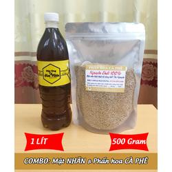 1Lít Mật ong HOA NHÃN + 500g Phấn hoa CÀ PHÊ