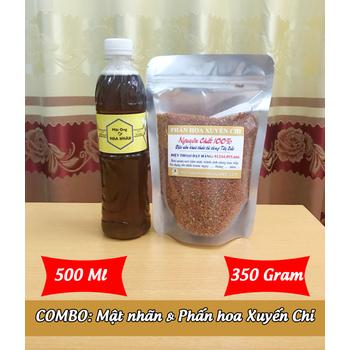 500Ml Mật ong HOA NHÃN + 350g Phấn hoa XUYẾN CHI