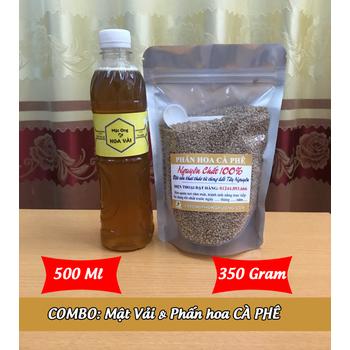 500Ml Mật ong HOA VẢI + 350g Phấn hoa CÀ PHÊ