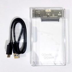 Box ổ cứng 2.5 inch trong suốt USB3.0 QGeeM C25B - BX35