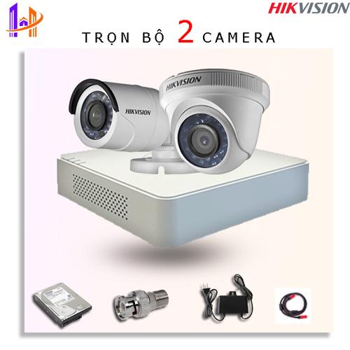 Trọn bộ 2 camera DS-2CE56D0T-IRP + DS-2CE16D0T-IRP + DS-7104HQHI-K1