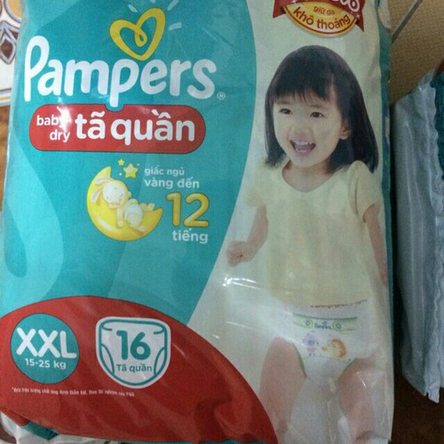 combo 2 bỉm quần pampers size xxl16