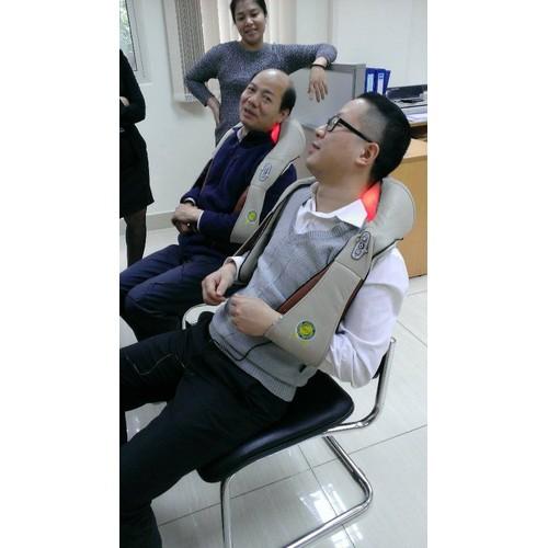 Đai massage vai gáy giảm đau chính hãng Hàn Quốc, máy mát xa day bóp