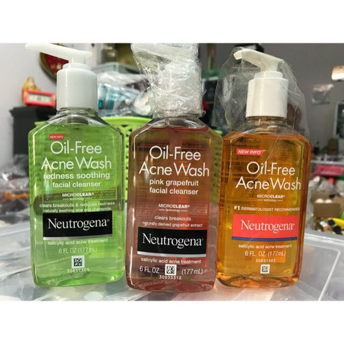Sữa rửa mặt Neutrogena Oil Free Acne Wash 177ml chuẩn Mỹ
