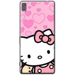 Ốp lưng nhựa dẻo Sony X Hello Kitty nền tim