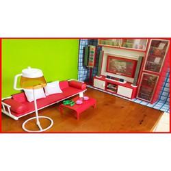 Đồ chơi NHÀ BÚP BÊ barbie có phòng khách