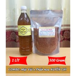 1Lít Mật ong HOA VẢI + 500g Phấn hoa XUYẾN CHI