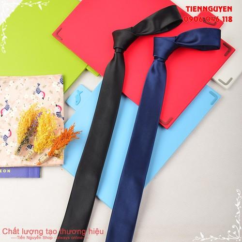 Cà Vạt Nam Bản Nhỏ 5cm - Cà Vạt Hàn Quốc Cao Cấp