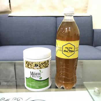 COMBO 350g Mầm đậu nành + 1 lít Mật ong hoa nhãn