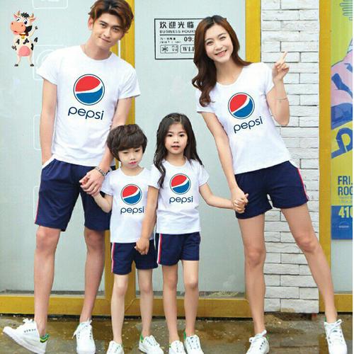 Áo gia đình áo đồng phục Pepsi chất cotton loại 1 đủ size giá 1 áo