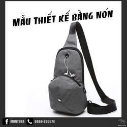 Túi đeo chéo nam nón kiểu đặt biệt nhỏ gọn sinh viên hàn quốc