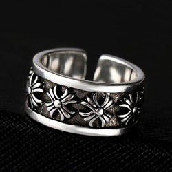 Nhẫn hở nam trắng phong cách âu mỹ - NN141