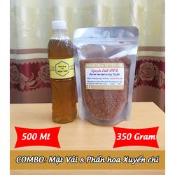 500Ml Mật ong HOA VẢI + 350g Phấn hoa XUYẾN CHI