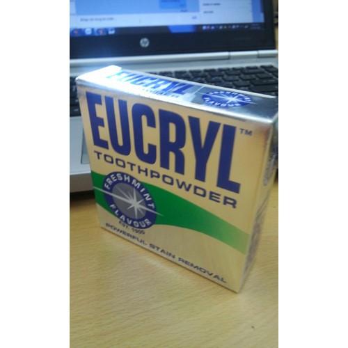 Bột làm trắng răng Eucryl Anh Quốc, Hết vàng răng, không còn vết ố