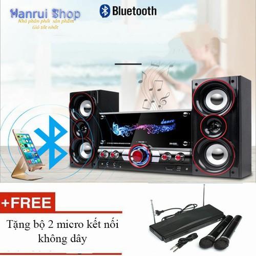 Worldmart dàn âm thanh tại nhà loa bluetooth 4.0 tặng kèm 2 micro không dây