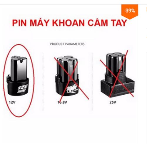 Pin 12v cho máy khoan pin