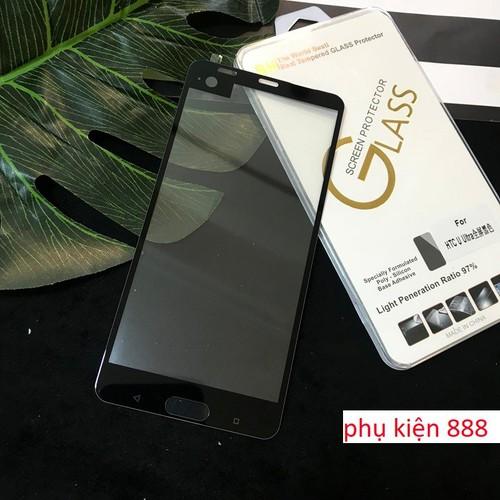 Combo kính cường lực và ốp silicon HTC U Ultra full màn