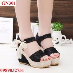 Giày đế xuồng nữ thắt nơ - GN301