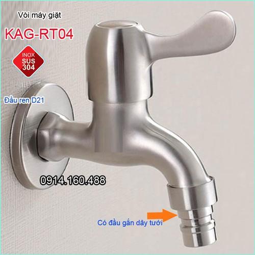Vòi xả gắn tường inox 304, vòi nước máy giặt KAG-RT04 - 4203739 , 10366447 , 15_10366447 , 110000 , Voi-xa-gan-tuong-inox-304-voi-nuoc-may-giat-KAG-RT04-15_10366447 , sendo.vn , Vòi xả gắn tường inox 304, vòi nước máy giặt KAG-RT04