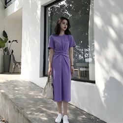 Đầm xòe dáng dài , váy thun công sở hít nhất năm 2018 - hàng order