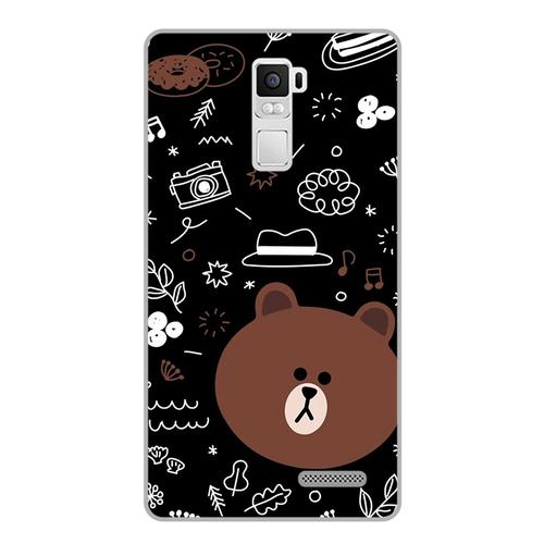 Ốp lưng điện thoại r7 plus - brown05