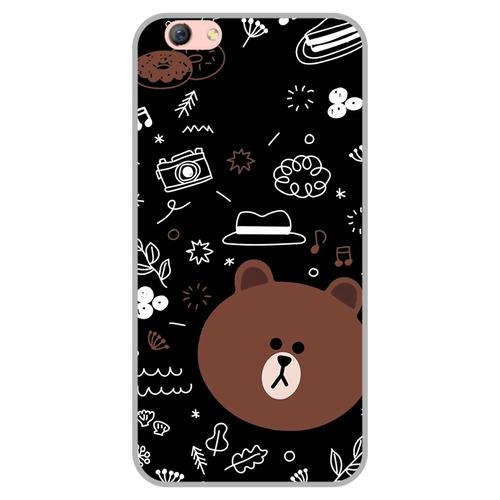 Ốp lưng điện thoại oppo f3 r9s - brown05