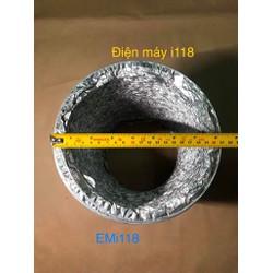 Ống dẫn gió bạc mềm không bảo ôn đường kính D200mm