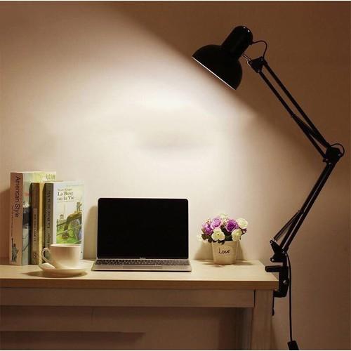 Đèn Bàn Học - Tặng Kèm Bóng Đèn bộ Chân Kẹp bàn hoặc Chân Đứng
