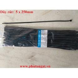 Dây rút nhựa đen 5x250mm. 1 bịch 70 cái