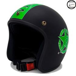 Mũ bảo hiểm 3 phần 4 đầu chuyên phượt - Sao Sọc Xanh lá