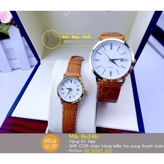 Đồng hồ đôi dây da cao cấp - giá 1 đôi - 3166 4