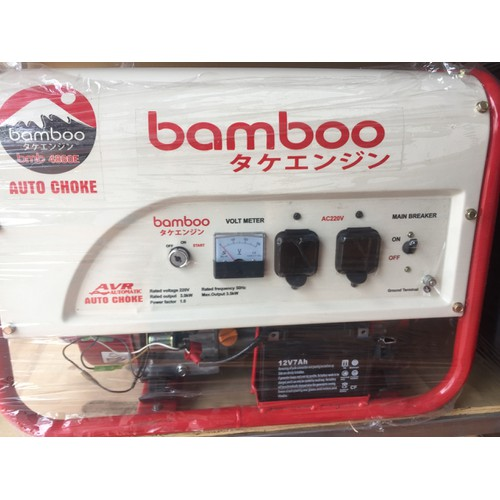 Máy phát điện Bamboo 4800E 3kw xăng đề
