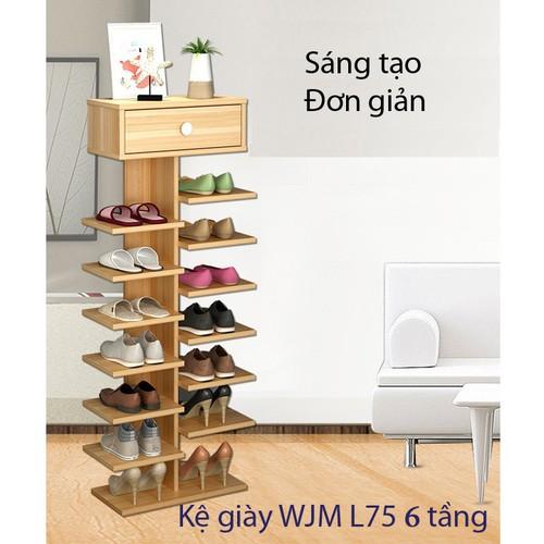 Kệ giày WJM L75 6 tầng Tiện Dụng - kệ gỗ để giày 6 tầng - 4216633 , 10383620 , 15_10383620 , 650000 , Ke-giay-WJM-L75-6-tang-Tien-Dung-ke-go-de-giay-6-tang-15_10383620 , sendo.vn , Kệ giày WJM L75 6 tầng Tiện Dụng - kệ gỗ để giày 6 tầng