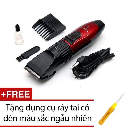 Tông đơ cắt tóc trẻ em Kemei 730 + tặng dụng cụ ráy tai có đèn