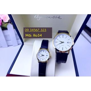 Đồng hồ đôi dây da cao cấp - giá 1 đôi - 3166 2